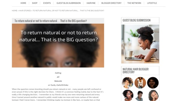the natural hair network feature